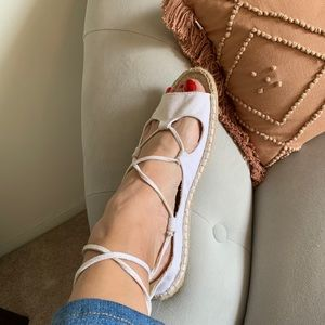 Soludos lace up sandal espadrilles NEW